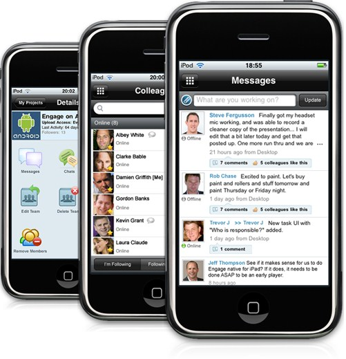 MangoApps' new mobile intranet app, iPhone Business Collaboration Suite